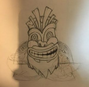 Bearded Tiki Sketch