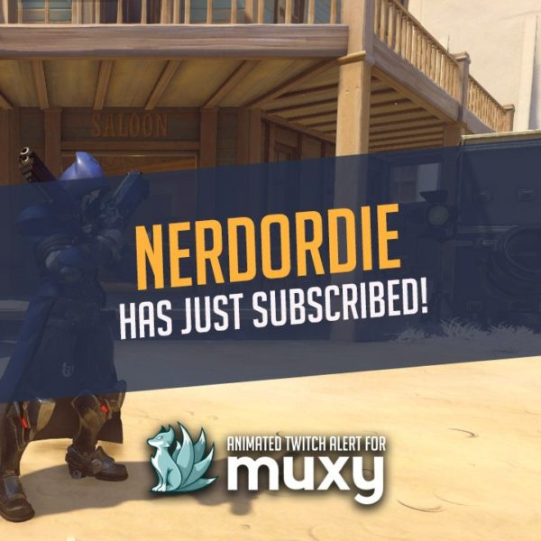 Muxy Custom Animated Overwatch Alert