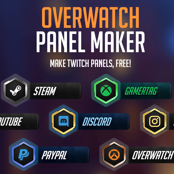 Overwatch Twitch Panel Maker