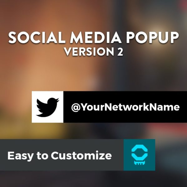 Social Media Popup Version 2