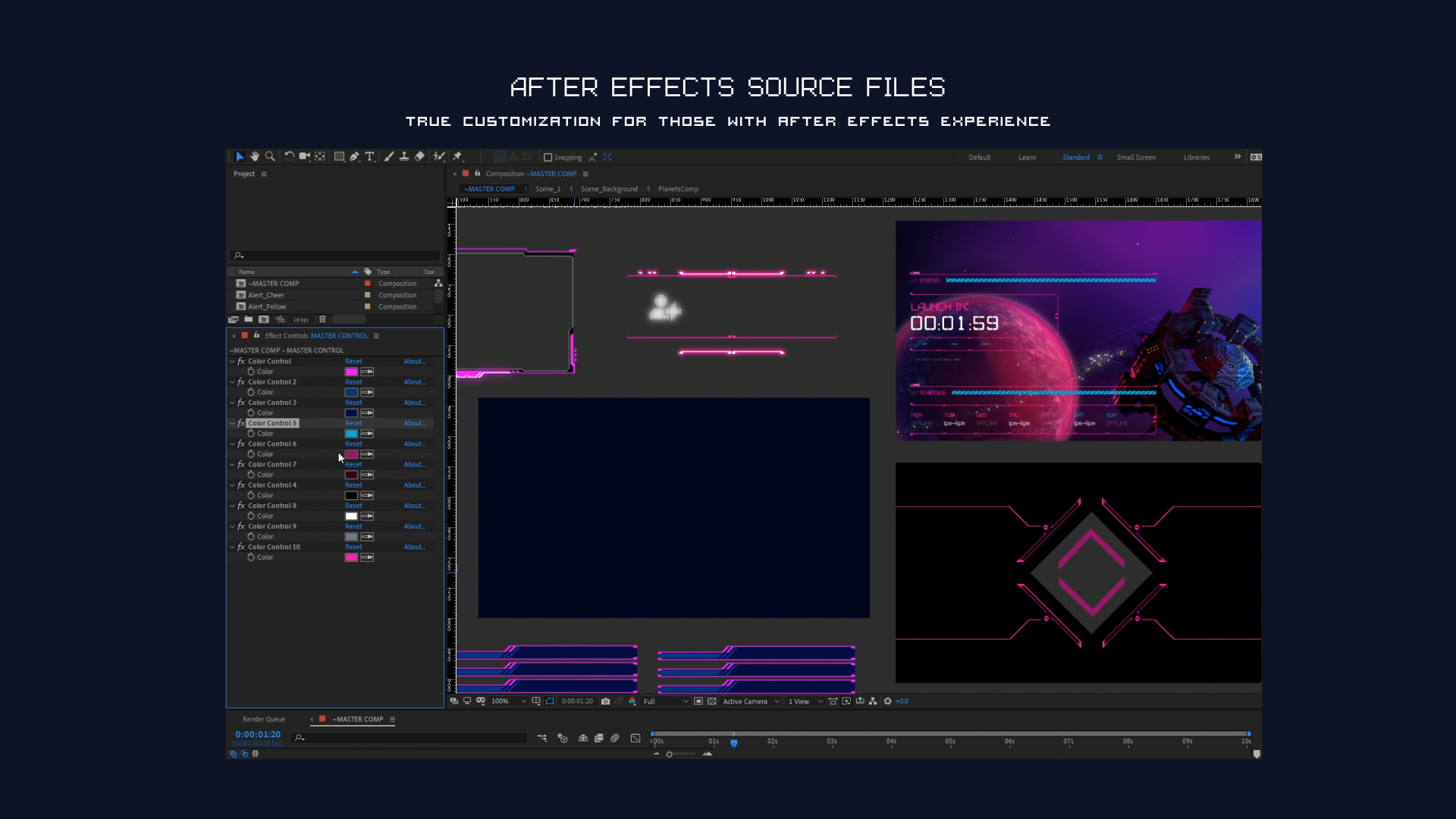 Nova Pixel Art After Effects File
